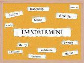 Empowerment Corkboard Word Concept