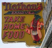 The Nathan s original restaurant sign