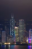 Hong Kong Harbor Laser Show To Skyline Of Victoria