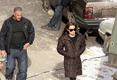 BUDAPEST - NOVEMBER 4: Angelina Jolie, in her directorial debut, on the set of her Bosnian war love