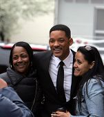 NEW YORK CITY - APRIL 15: Actor Will Smith greets fans on the set of