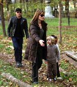 BUDAPEST-NOV5: Brad Pitt and Angelina Jolie and their children Zahara, Pax, and Shiloh enjoy an earl