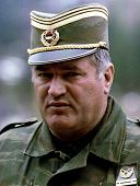 PALE, BOSNIA - MAY 7: General Ratko Mladic, commander of the Bosnian Serb army, prepares to meet Bos