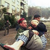 SARAJEVO, BOSNIA - MAR 18: Italian army troops, in Bosnia as part of the United Nation's  UNPROFOR,