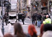 BUDAPEST, HUNGARY -  MAR 28: Actor Robert Pattinson on the set of