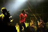 BUDAPEST, HUNGARY - AUG 10: The Wailers Band plays at the annual Sziget festival on Tuesday, August