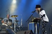 BUDAPEST, HUNGARY - AUG 13: The English rock duo The Ting Tings in concert at the annual Sziget musi