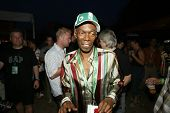 BUDAPEST, HUNGARY - AUGUST 10: Maxi Jazz of the band Faithless at the annual Sziget music festival o