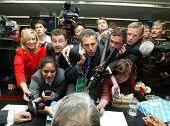 VIENNA, AUSTRIA - SEPT 19: Saudi Arabian oil minister Ali I Naimi is crushed by the media at the Org