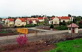 GOLAN HEIGHTS - MARCH 27:  An Israeli settlement on March 27, 2000 in the Golan Heights.