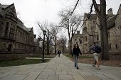 NEW HAVEN - APRIL 9: On the campus of Yale University in New Haven, Connecticut, on Friday, April 9,