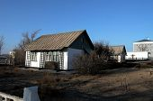 BAIKONUR - OCTOBER 22: The home of the world's first man in space, Yuri Gagarin, at the Baikonur Cos