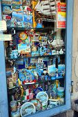 MANAROLA - ITALY: AUG 17: Souvenirs from Manarola, Italy, on Sunday, August 17, 2013. The village is