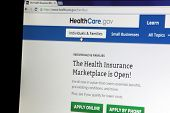 NEW YORK CITY - FEBRUARY 3, 2014:  The healthcare.gov website in New York City, New York,  on Februa