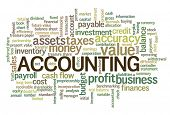 stock photo of payroll  - Accounting Word Cloud Word Bubble tags vector - JPG