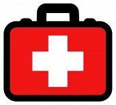First aid box vector icon