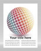 Multicolored globe with copy space.