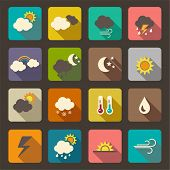 picture of cold-weather  - Flat weather icon vector set - JPG