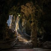 stock photo of stalagmite  - Khao Luang cave in Phetchaburi - JPG