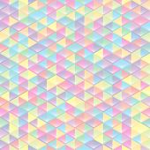 Seamless pattern of geometric shapes. Colorful mosaic banner. Geometric hipster retro background with place for your text. Retro triangle background. Abstract geometric colorful triangles design.