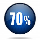70 % internet blue icon
