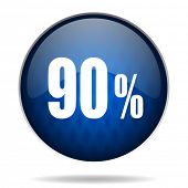 90 % internet blue icon