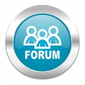 forum internet blue icon