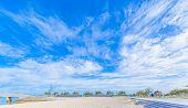 Tropical beach and blue sky of Okinawa
