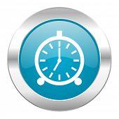 alarm internet blue icon