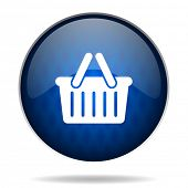 cart internet blue icon