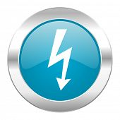 bolt internet blue icon