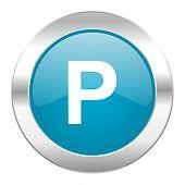 parking internet blue icon