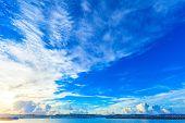 Morning harbor of Okinawa