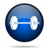 fitness internet blue icon