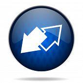 exchange internet blue icon