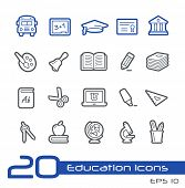 School & Education Icons // Line Series