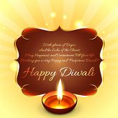 Vector happy diwali background with space for text