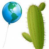 Balloon America Cactus