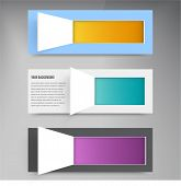 Vector background squares. Set web design