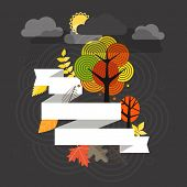Autumn is coming. Illustration concept