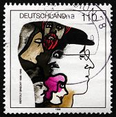 Postage Stamp Germany 1998 Bertolt Brecht, Playwright