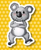 Illustration of a single koala bear