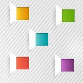 Vector background squares. Set web design