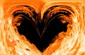 foto of fiery  - Heart made of fire - JPG