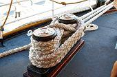 The marine parts of the ship. Sailboat