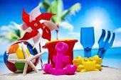 Beach toys, vacation