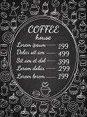 Coffee house chalkboard menu