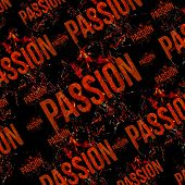 Passion Typographic Grunge Design Pattern