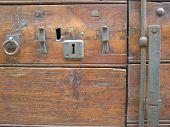 Ancient Old Dirty Wooden Door