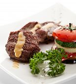 Beef Steak with Vegetables and Parsley